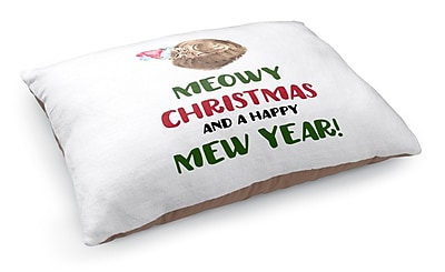 Kavka Meowy Christmas Pet Bed Pillow