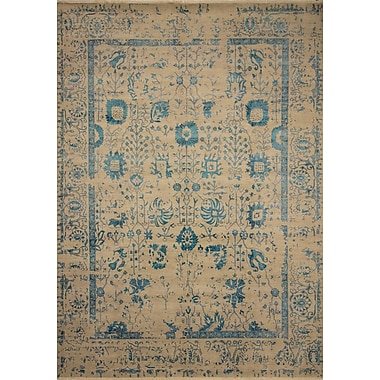 Bungalow Rose Dravis Hand Knotted Rectangle Wool Silver Area Rug