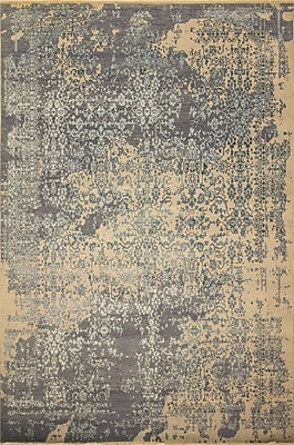 Bungalow Rose Dravis Hand Knotted Wool Silver Area Rug