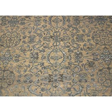 Bungalow Rose Dravis Hand Knotted Rectangle Wool Gray Area Rug