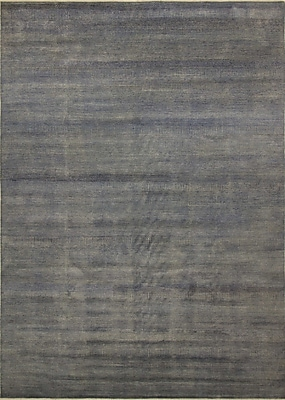 17 Stories Varya Hand Knotted Wool Gray Area Rug