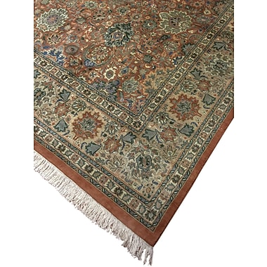 Darby Home Co Dolly Hand Knotted Wool Copper Area Rug