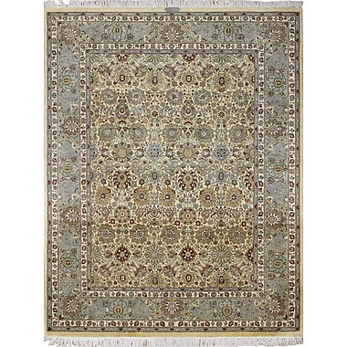 Astoria Grand Rodney Hand Knotted Wool Ivory Area Rug