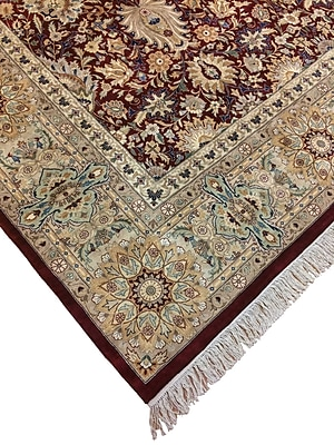 Astoria Grand Sanatoga Hand Knotted Wool Red Area Rug