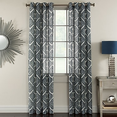 Natco Home Campbell Geometric Sheer Grommet Single Curtain Panel