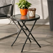 Ebern Designs Lawrence 16'' Round Folding Side Table