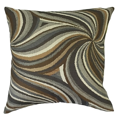 Orren Ellis Nora Graphic Floor Pillow Amber; Amber