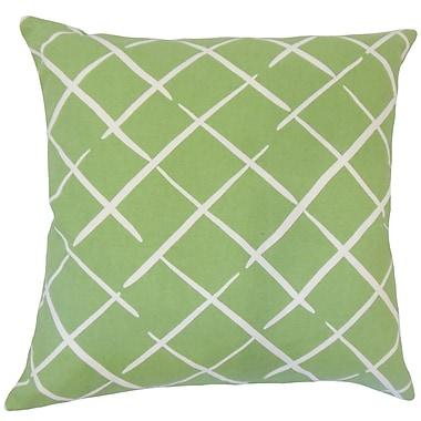 Orren Ellis Kistner Geometric Down Filled 100pct Cotton Lumbar Pillow; Palm