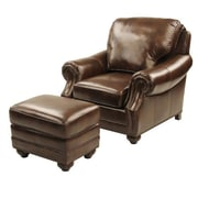 Red Barrel Studio Fairmont Leather Club Chair and Ottoman