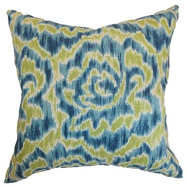 Red Barrel Studio Arsenault Cotton Blend Floor Pillow; Aqua/Green
