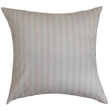 Red Barrel Studio Salisbury Stripes Cotton Blend Floor Pillow; Bella Twill