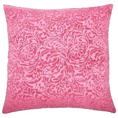 Red Barrel Studio Sagebrush Damask Cotton Blend Floor Pillow; Azalea