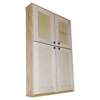 WG Wood Products Shaker Series 29'' x 43.5'' Surface Mount Medicine Cabinet