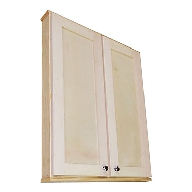 WG Wood Products Shaker Series 29'' x 25.5'' Surface Mount Medicine Cabinet
