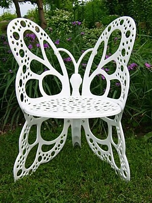 Flowerhouse Butterfly Chair; White