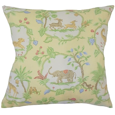 Zoomie Kids Folsom Floral Down Filled 100pct Cotton Throw Pillow; 22'' x 22''
