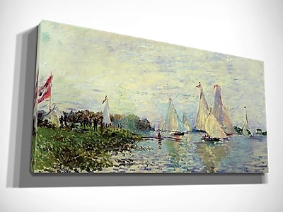 Alcott Hill 'Regattas at Argenteuil' by Claude Monet Oil Painting Print on Wrapped Canvas