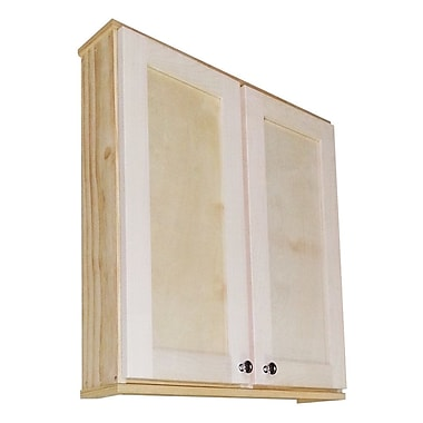WG Wood Products Shaker Series 29'' x 31.5'' Surface Mount Medicine Cabinet