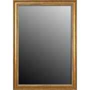 Second Look Mirrors Grecian Beaded Vintage Gold Wall Mirror; 34'' H x 16'' W