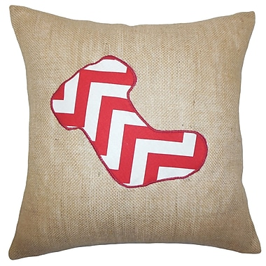 The Holiday Aisle Christmas Stocking Floor Pillow; Red