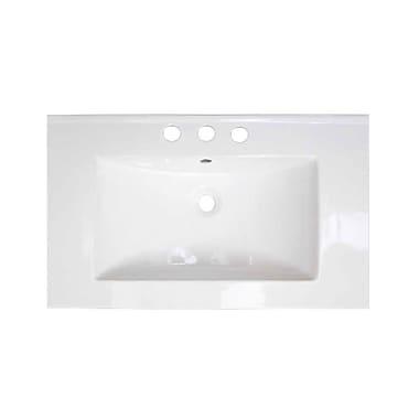 American Imaginations Roxy Ceramic 32'' Single Bathroom Vanity Top; 8'' Centers