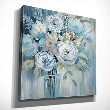 Alcott Hill 'Flourish' Oil Painting Prin on Wrapped Canvas; 32'' H x 32'' W