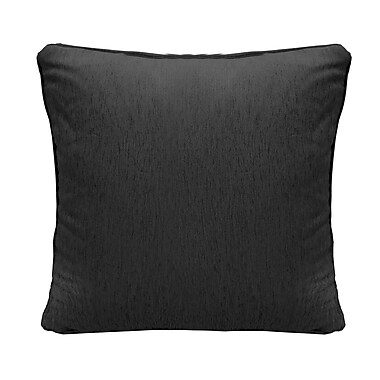 Alcott Hill Brownsburg Square Chenille Throw Pillow; Black