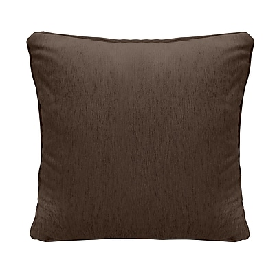 Alcott Hill Brownsburg Square Chenille Throw Pillow; Brown