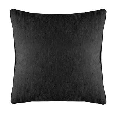 Alcott Hill Brownsburg Modern Chenille Euro Pillow; Black