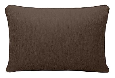 Alcott Hill Brownsburg Chenille Lumbar Pillow; Brown