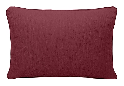Alcott Hill Brownsburg Chenille Lumbar Pillow; Burgundy