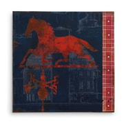 August Grove 'Horse Vane' Graphic Art Print on Wrapped Canvas; 16'' H x 16'' W