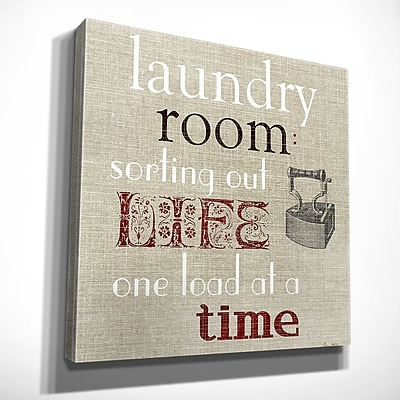 August Grove 'Laundry Room' Textual Art on Wrapped Canvas; 32'' H x 32'' W