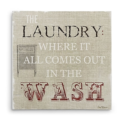 August Grove 'The Laundry' Textual Art on Wrapped Canvas; 40'' H x 40'' W