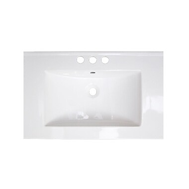 American Imaginations Flair Ceramic 24'' Single Bathroom Vanity Top; 4'' Centers