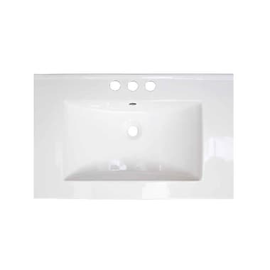 American Imaginations Flair Ceramic 24'' Single Bathroom Vanity Top; 4'' Centers