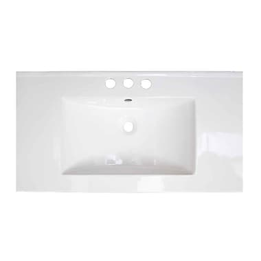 American Imaginations Flair Ceramic 32'' Single Bathroom Vanity Top; 4'' Centers