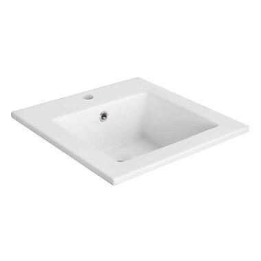 American Imaginations Ceramic 17'' Single Bathroom Vanity Top; Single Hole