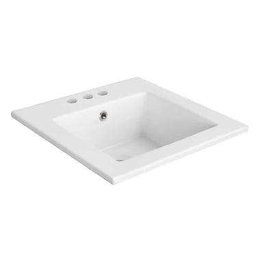 American Imaginations Ceramic 17'' Single Bathroom Vanity Top; 4'' Centers