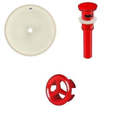American Imaginations Circular Undermount Bathroom Sink w/ Overflow; Red