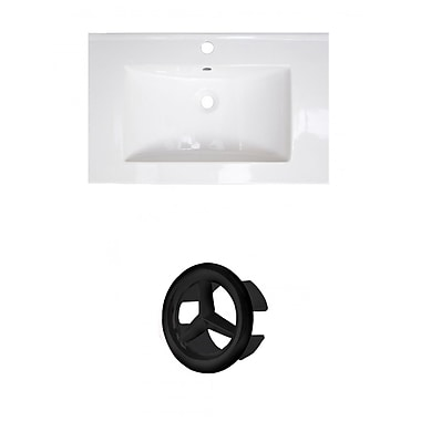 American Imaginations Roxy Ceramic 24'' Single Bathroom Vanity Top; Single Hole