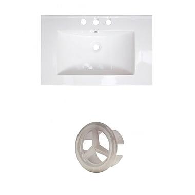 American Imaginations Roxy Ceramic 24'' Single Bathroom Vanity Top; 8'' Centers