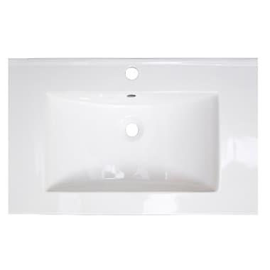 American Imaginations Vee Ceramic 21'' Single Bathroom Vanity Top; Single Hole