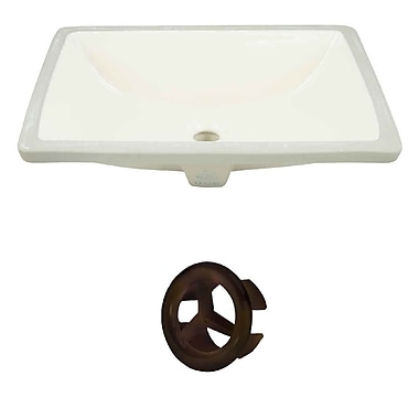 American Imaginations Rectangular Undermount Bathroom Sink w/ Overflow; Oil Rubbed Bronze