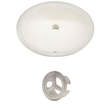 American Imaginations Oval Undermount Bathroom Sink w/ Overflow; Brushed Nickel