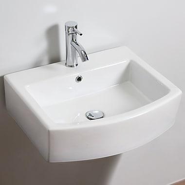 American Imaginations Wall Mount Bathroom Sink w/ Overflow; Single Hole