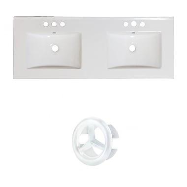 American Imaginations Xena Ceramic 59'' Single Bathroom Vanity Top; 4'' Centers