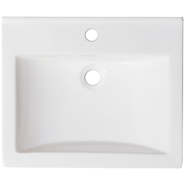 American Imaginations Ceramic 22'' Single Bathroom Vanity Top; Single Hole