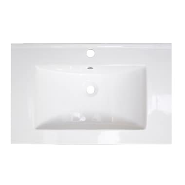 American Imaginations Ceramic 24'' Single Bathroom Vanity Top; Single Hole
