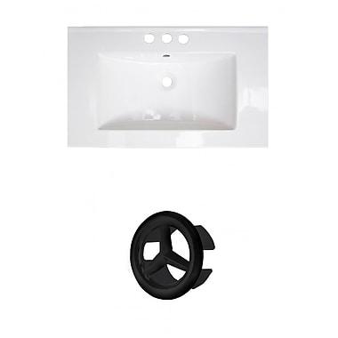 American Imaginations Roxy Ceramic 32'' Single Bathroom Vanity Top; 4'' Centers